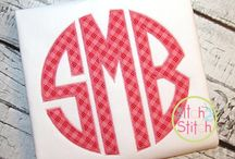 Applique Fonts and Monograms / Applique Fonts and Monograms / by Peggy Aull