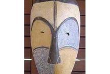 Wooden African masks
