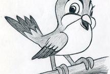 Zeichenvorlagen Vögel
