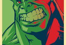 Hulk and superheros / by Anna Beideman