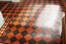 Victorian hall tile restoration / What to do with my door step?