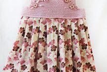 vestido a chochet con tela