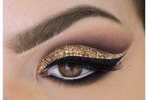 eye colour + eye brow