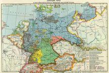 Landkarten früher und heute Deutschland/ Maps of Germany / Vor und nach 1945