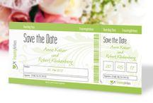 Save the Date Karten für die Hochzeit / Mit Save the Date Karten informiert Ihr die Gäste rechtzeitig über Euer Hochzeitsdatum. Sie werden noch vor den Einladungen versendet und passen bestenfalls auch zu diesen.