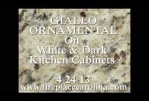 GIALLO ORNAMENTAL on DARK Cabinets
