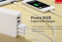POWA HUB 45W / 5-port USB charger for whole family, up to 50W of output power