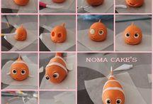 Fondant sea creatures