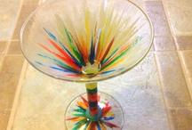 üveg -pohár-festés