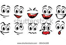 Cartoon gezichten