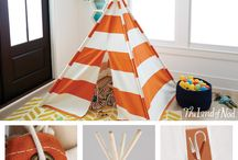 Kid spaces, tents, and forts