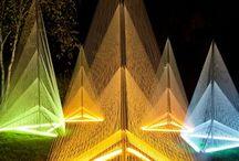 luz + instalaciones + creatividad