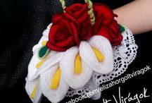 Horgolt virágok - Crochet flowers