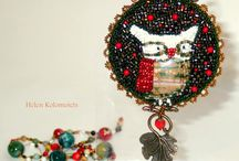 """MY WORK. Brooch """"The Order of the forest owls""""."""