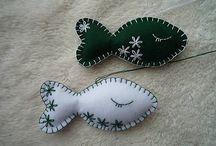 X-mas by miskaw / Vianočné ozdoby z filcu