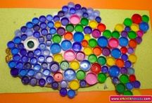Fish craft idea / This page has a lot of free Fish craft,fish bulletin board idea for kids,parents and preschool teachers.