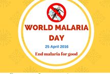 World Malaria Day / #WorldMalariaDay2016 Malaria is a life-threatening blood disease caused by parasites transmitted to humans through the bite of the Anopheles mosquito. Symptoms of Malaria: Fever and chills, Headaches Vomiting Respiratory distress Abnormal bleeding and signs of anemia  Statistics- In 2015, there were an estimated 438000 malaria deaths worldwide.  Between 2000 and 2015, malaria incidence rates fell by 37% globally. During the same period, malaria mortality rates fell by 60% globally.