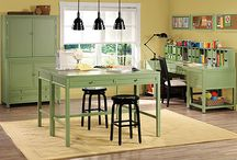 Studio / craft room, studio, organization, art, craft, sewing room, design, decor