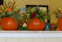 Fall ideas  / Use of fall flowers for centerpieces.