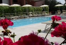 Swimming Pool & Garden Residence / Il Residence è circondato da un curatissimo giardino rigoglioso di piante e fiori che decorano come un prezioso scrigno anche tutti i balconi delimitati da imponenti vasche ricolme di vegetazione.