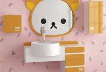Rilakkuma loosley cubs bathroom mirror