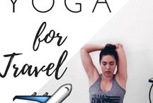 Yoga on the Go / Yoga on Go when travelling helps keep you flexible, refreshed and invigorated for the day ahead.  Whether it's a hotel room or staying with Mum and Dad, a 20 minute yoga routine is easily completed in a small space.