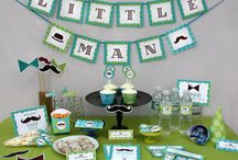 Little Man - Mustache Birthday Party Collection / Printable Collection for a Little Man or Moustache Birthday Party by PartyPrintables2Go Search for more Kids party themes in our store!