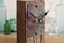 Clocks / Clocks, wooden clocks, upcycled, recycled, reclaimed wood, furniture, how to make clocks, clock designs, stone clocks, metal clocks.