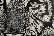 printmaking / lino/wood cuts inspiration/ideas