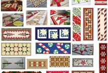 Kerstmis / Gratis quilt patronen kerst loper