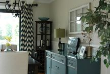 Colour ideas for Buffet, china cabinet in dining room.