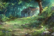 Background Design / Background designs for Animation or illustration.