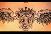 Lioness crown tattoo