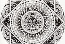 Cool mandalas to color board 1 / A group of mandalas for adults to color