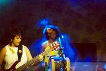 músicos / Aline Alexsandra; contrabaixista de ponta , umas das melhores instrumentistas do nordeste.