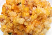 corn casserole with cheese and bacon