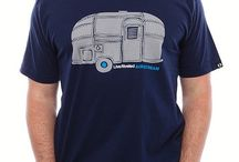 """Airstream T-shirts / Airstream branded t-shirts celebrating the """"live riveted"""" lifestyle."""