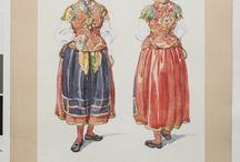 Sweden- Västbo, Småland / Folkdräkt och folkliga textilier från Västbo och Sunnerbo härader, i Småland. Traditional clothing and textiles from Västbo and Sunnerbo, in the Swedish province of Småland.