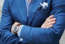 blue jacket beige chinos