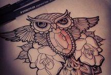 Tattoo hibou
