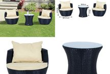 Patio Set Garden Black Outdoor Furniture Rattan Home Chairs Table Summer Relax
