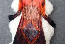 Vestido Fashion Brand / Combinação de duas peças 100% seda Mangas Compridas Decote redondo Cor: laranja Espessura do tecido: moderado Tecido suave Tamanho M Estilo Vintage Decoração: rendas