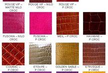 Timsah Deri renk skalası