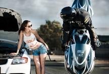 Ragazze in motocicletta