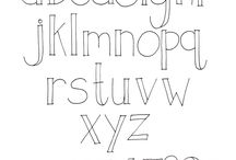 Handwriting fonts/ lettering