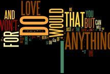 Lyrics with Wordle