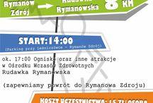 Biuro Informacji Turystycznej w Rymanowie-Zdroju / Tablica informacyjna o wydarzeniach i imprezach organizowanych przez Biuro Informacji Turystycznej w Rymanowie-Zdroju.