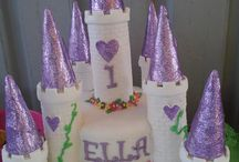Princess Castle cake / I made this cake for my daughters first birthday!