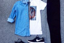 black nike shoes outfit men