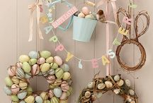 easter eggs and bunny rabbits